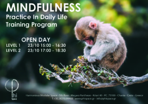 Mindfulness Practice in Daily Life Training Program , Level 1 & 2 @ Φ Space Αρμονικός Πολυμορφικός Χώρος